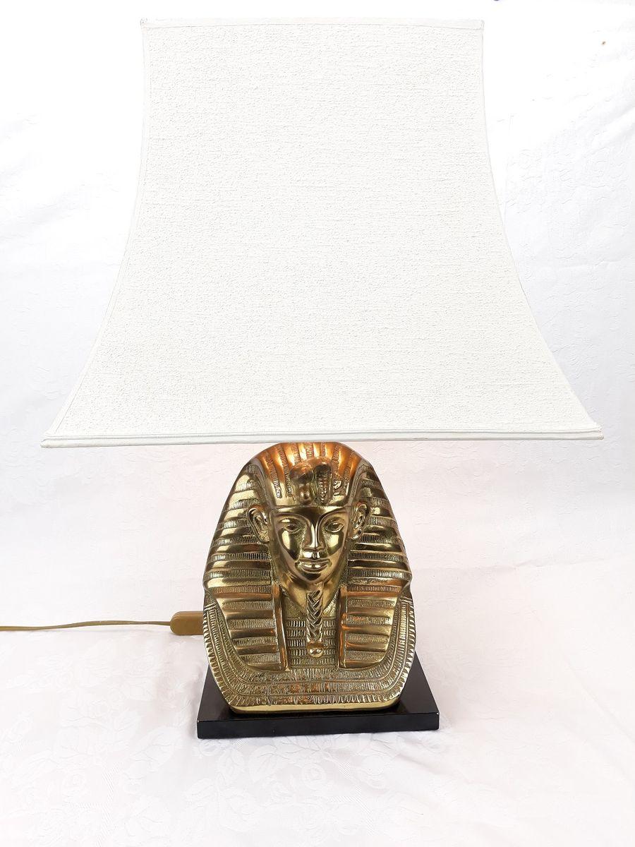 Tischlampe in Pharao-Optik, 1970er