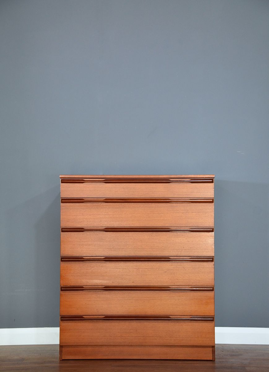 Mid-Century Teak Chest of Drawers from Avalon