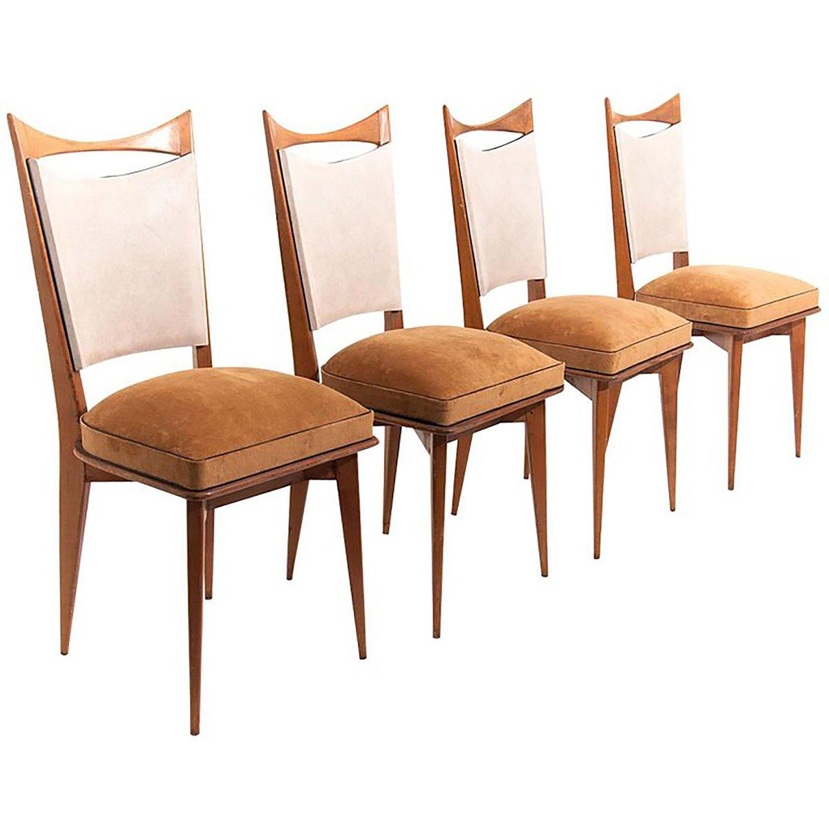 Italienische Stühle 1950er 4er Set Bei Pamono Kaufen