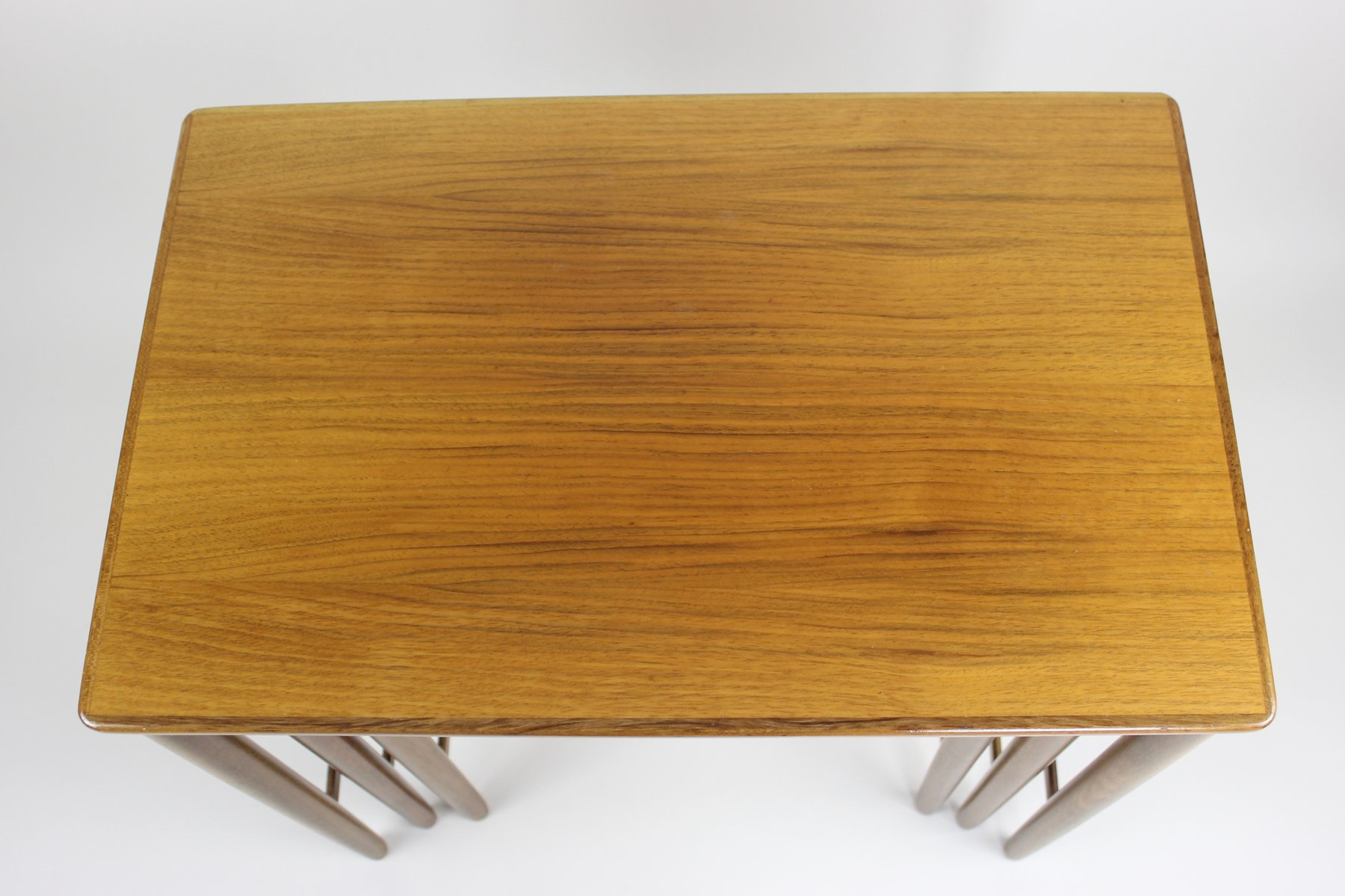 Mid century walnut nesting tables from opal mobel for sale at pamono - Mid century mobel ...