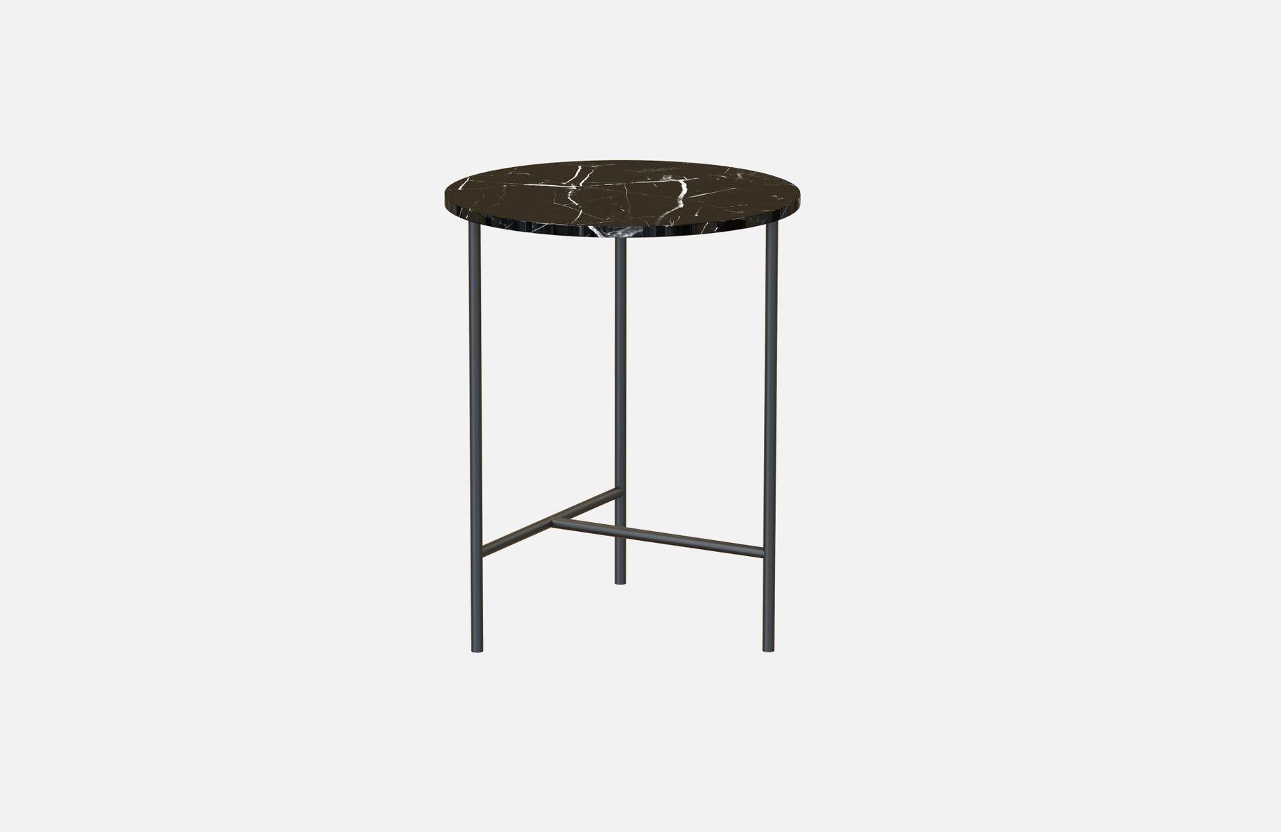 Schwarzer MIDT Couchtisch mit schwarzer Tischplatte aus Marmor von Ale...