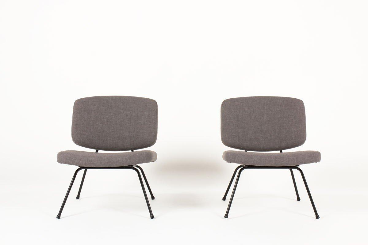 Niedrige Modell CM190 Stühle von Pierre Paulin für Thonet, 1950er, 2er...