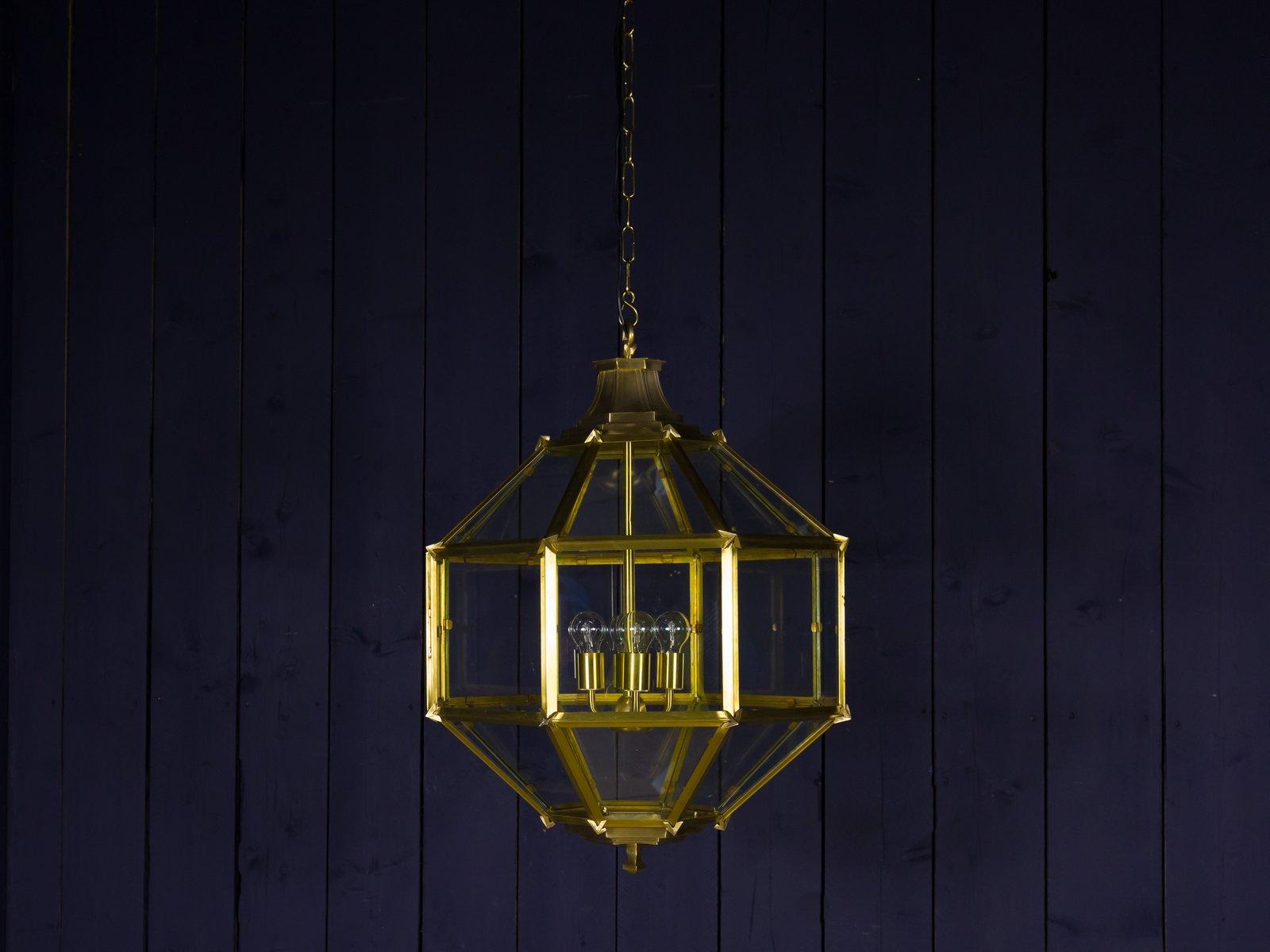 Vintage Deckenlampe aus Messing, 1970er
