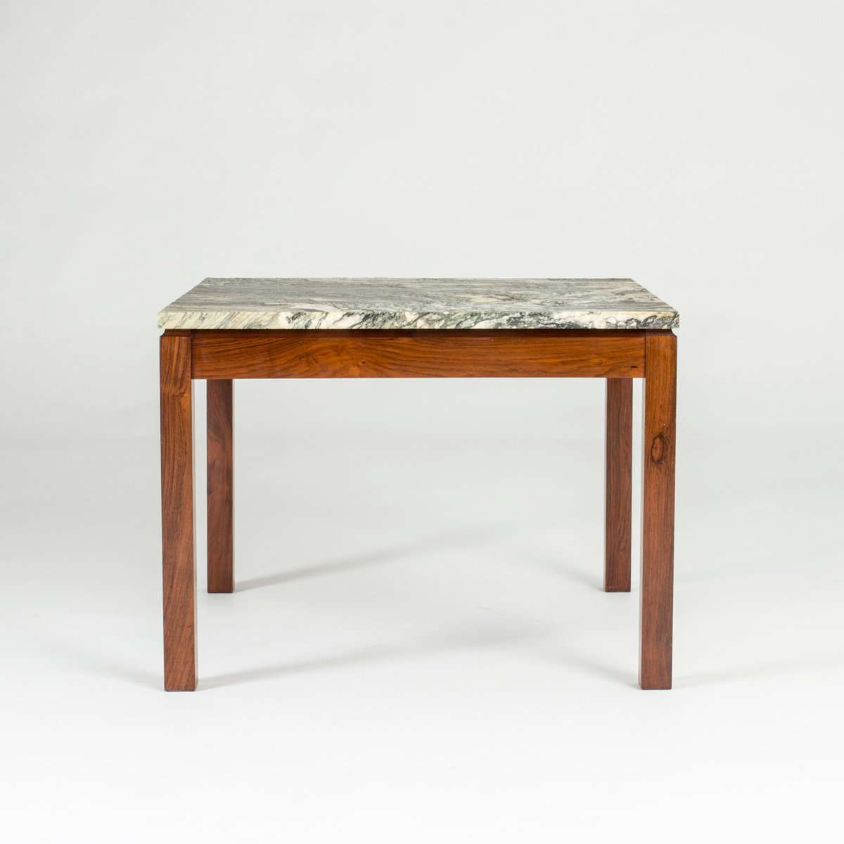 Danish Marble & Rosewood Coffee Table, 1960s