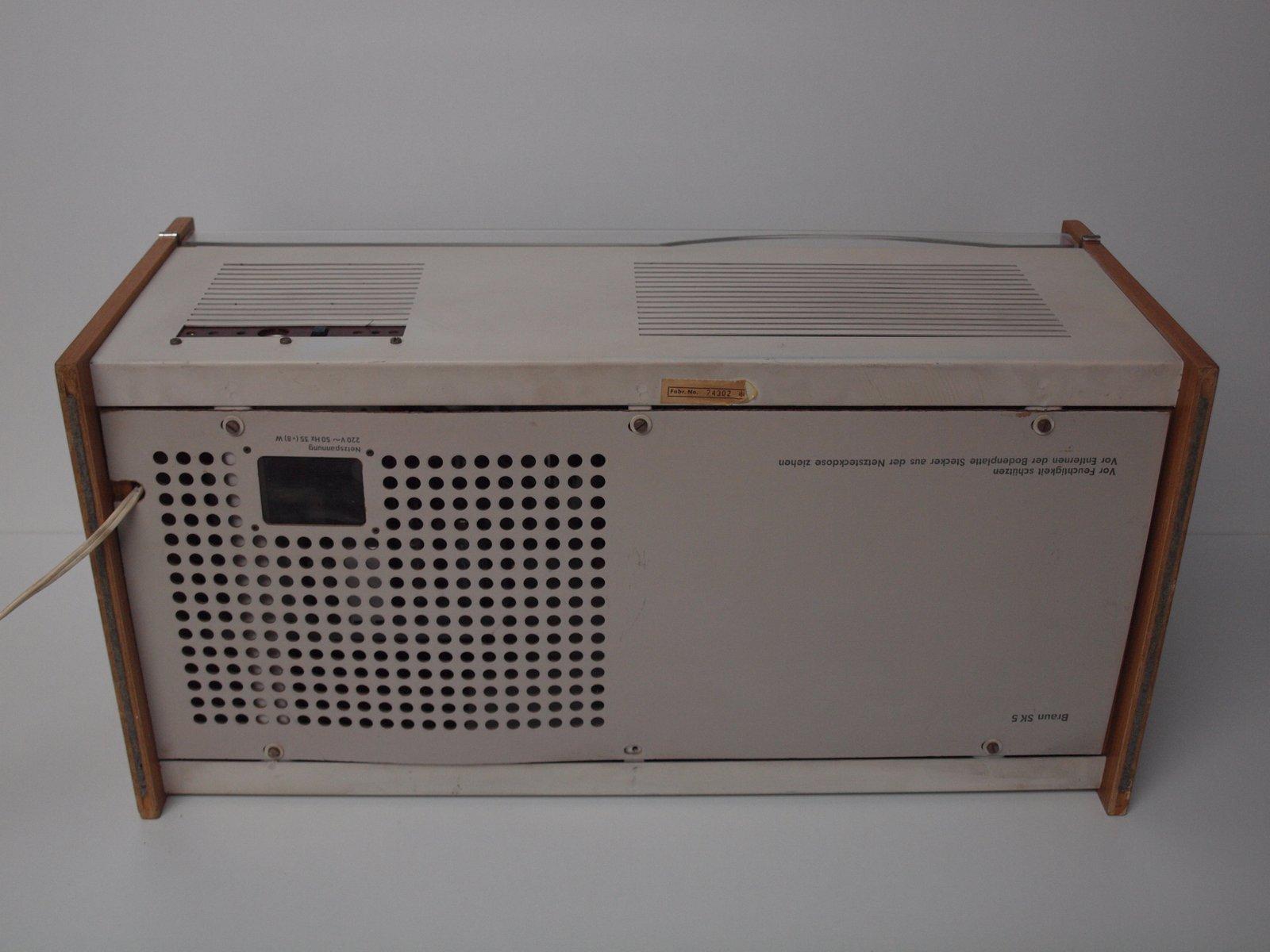 phonosuper sk5 radio mit plattenspieler von dieter rams f r braun 1957 bei pamono kaufen. Black Bedroom Furniture Sets. Home Design Ideas