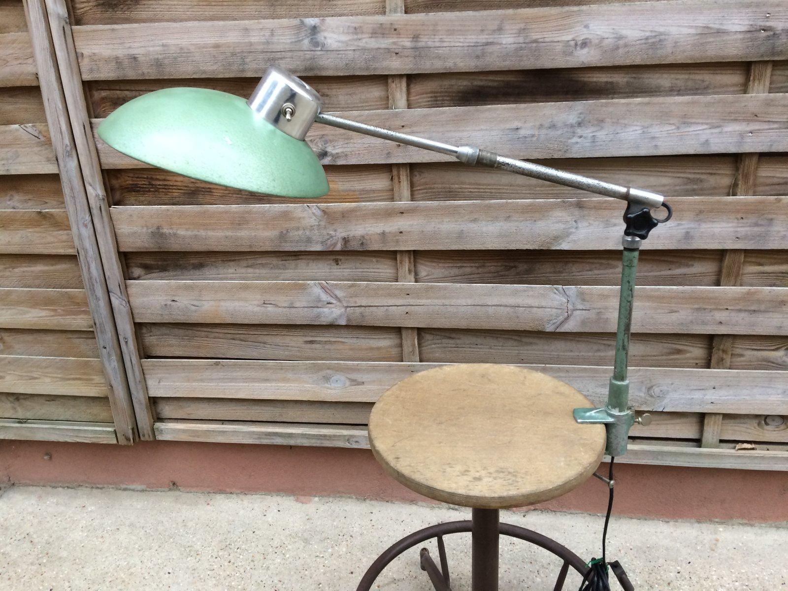 Mid century schreibtischlampe in teleskop optik von ferdinand solère