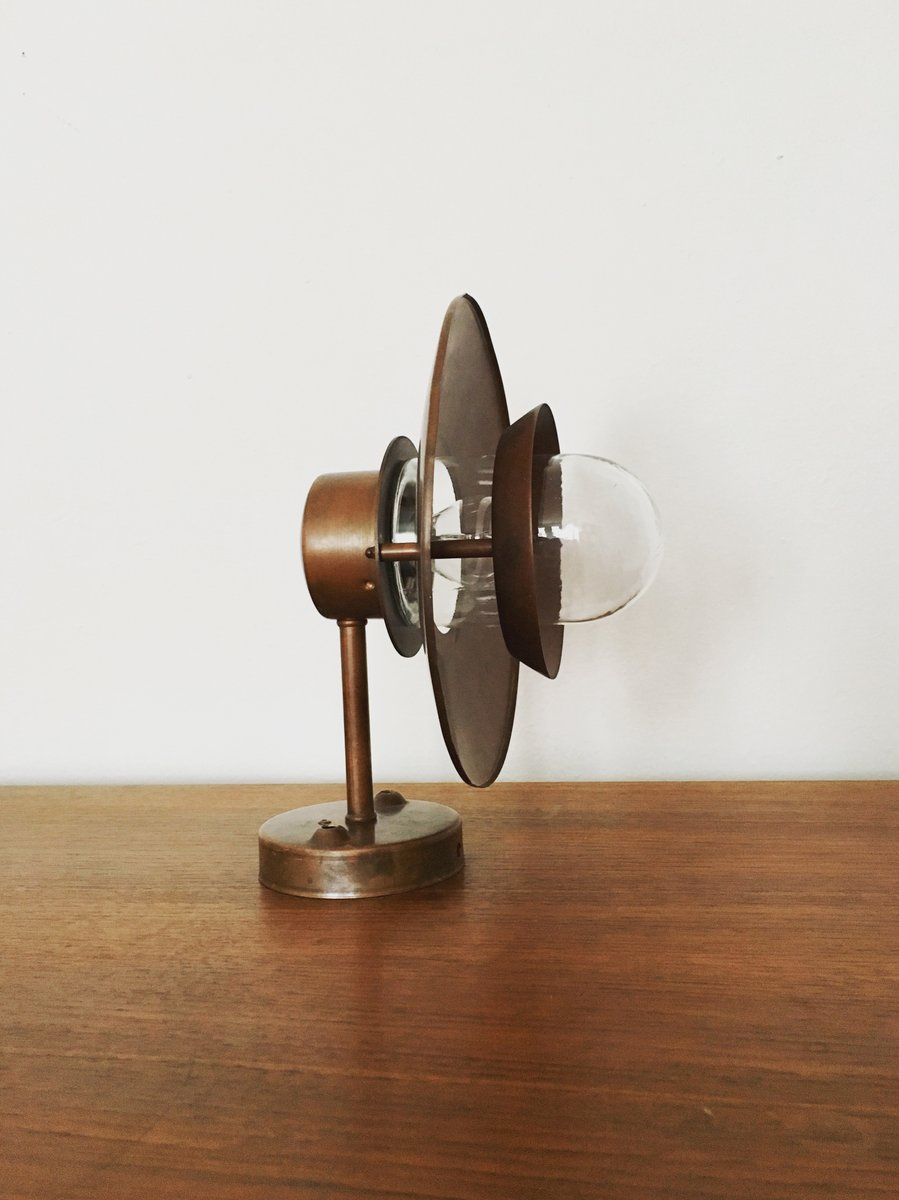 wandlampe aus kupfer f r den au enbereich 1960er bei pamono kaufen. Black Bedroom Furniture Sets. Home Design Ideas