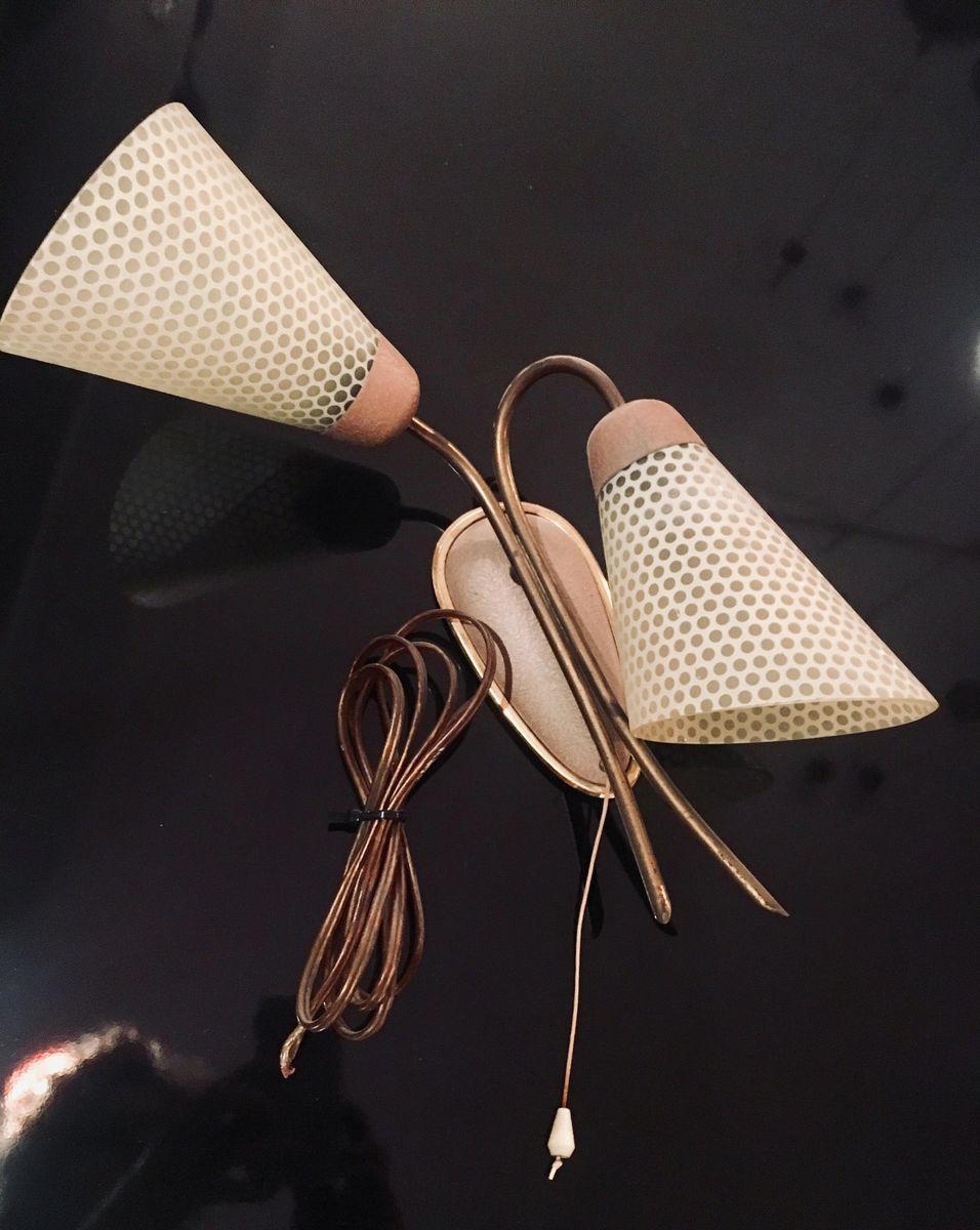 Wandlampe aus Messing, 1950er