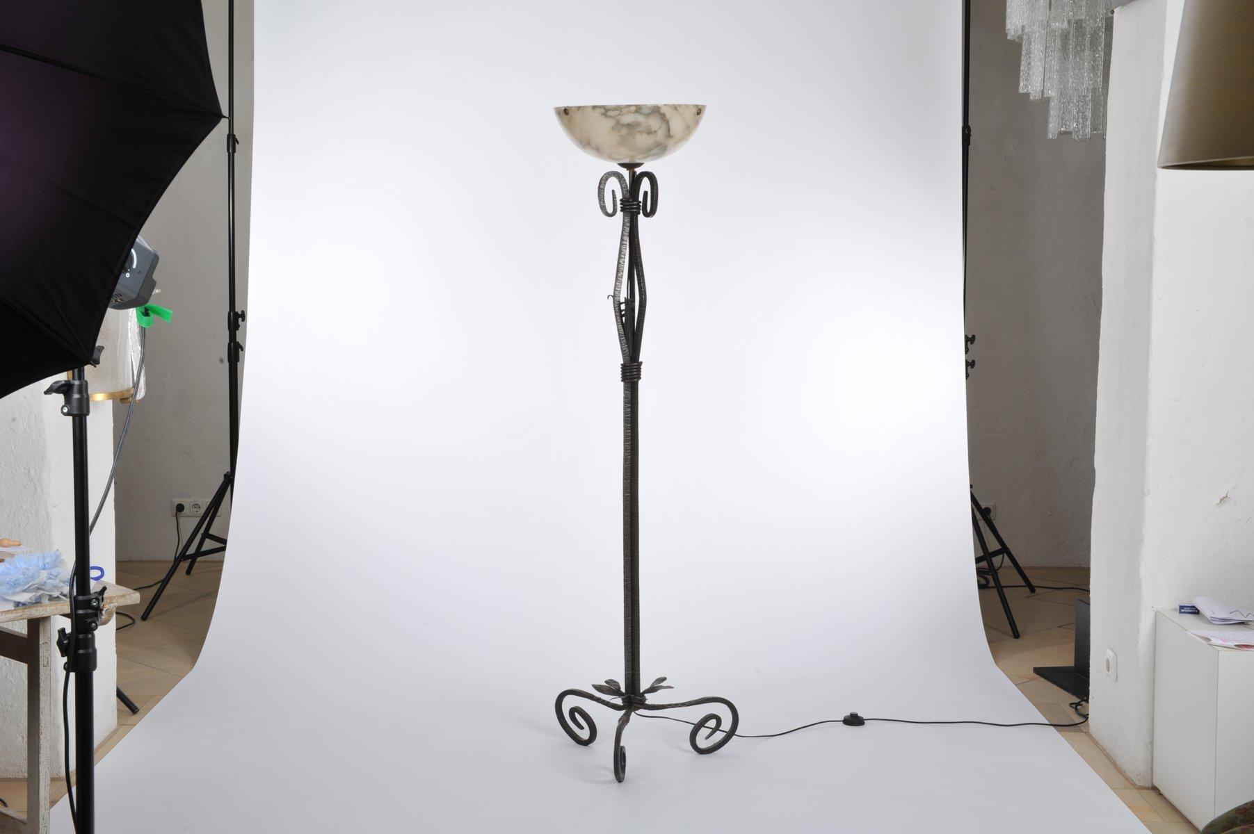 Französische Art Deco Stehlampe, 1920er