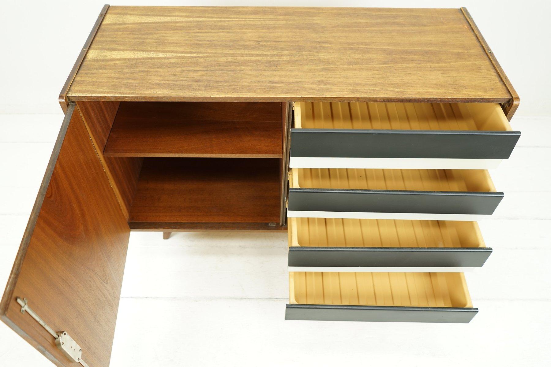 mid century sideboard in schwarz wei von ji jiroutek. Black Bedroom Furniture Sets. Home Design Ideas