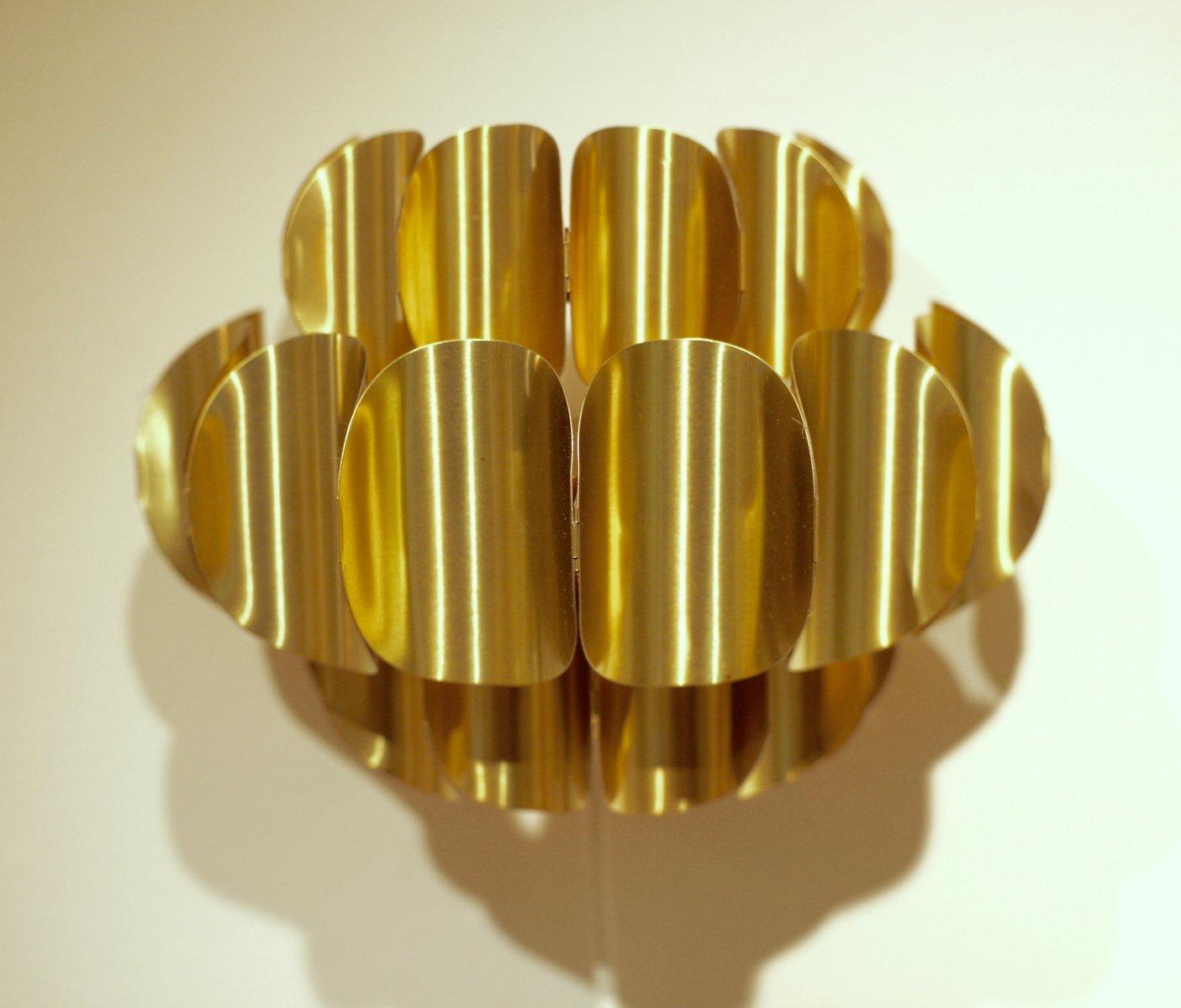 Wandlampen aus Messing von Werner Schou für Coronell Elektro, 1970er, ...