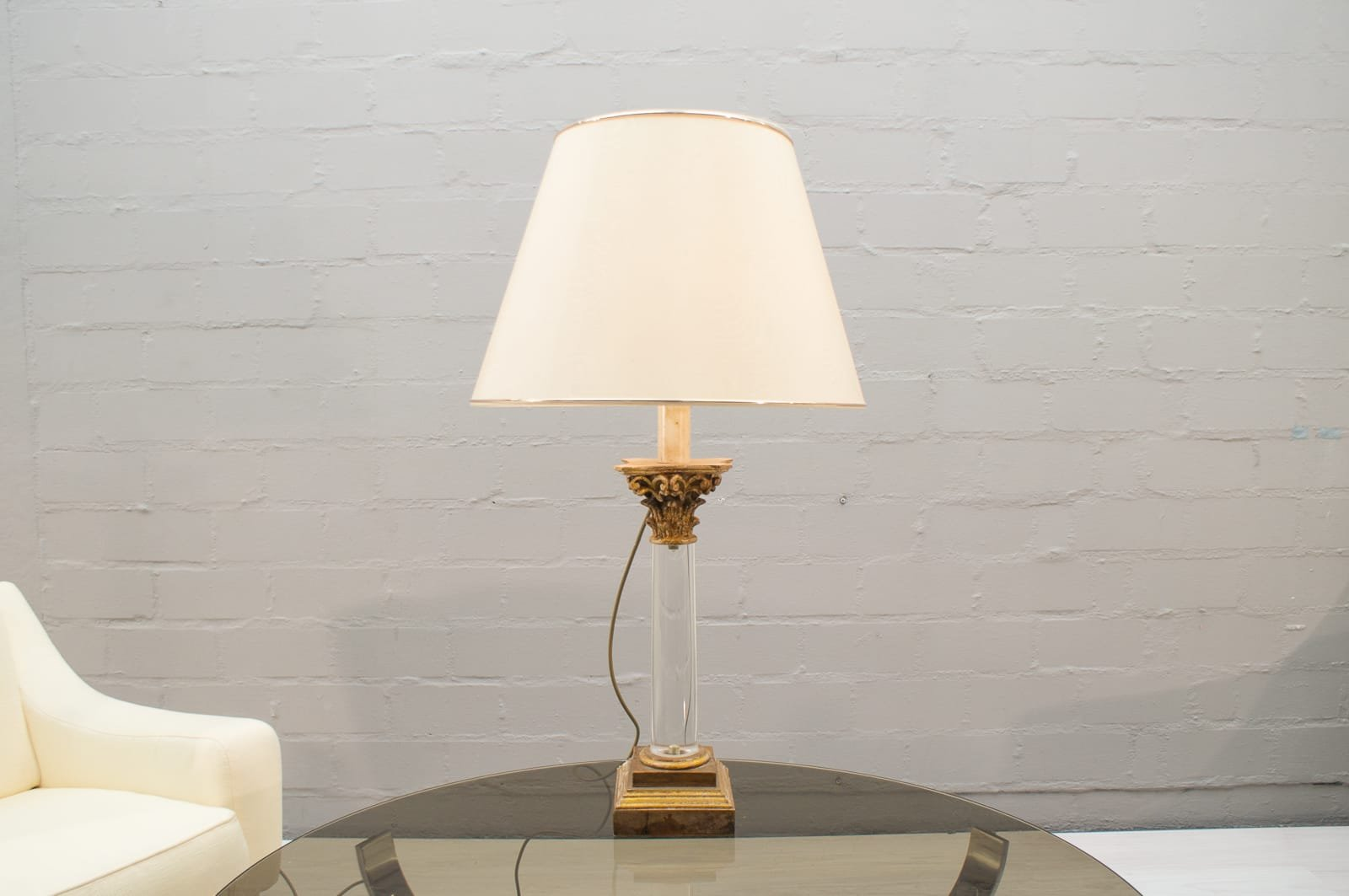 Hollywood Regency Table Lamp With Three Lights From Bf Art 1960s