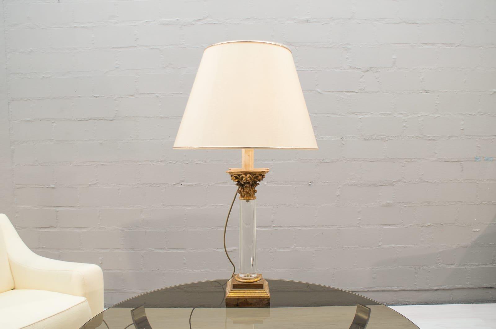 Hollywood Regency Tischlampe mit 3 Leuchten von BF Art, 1960er