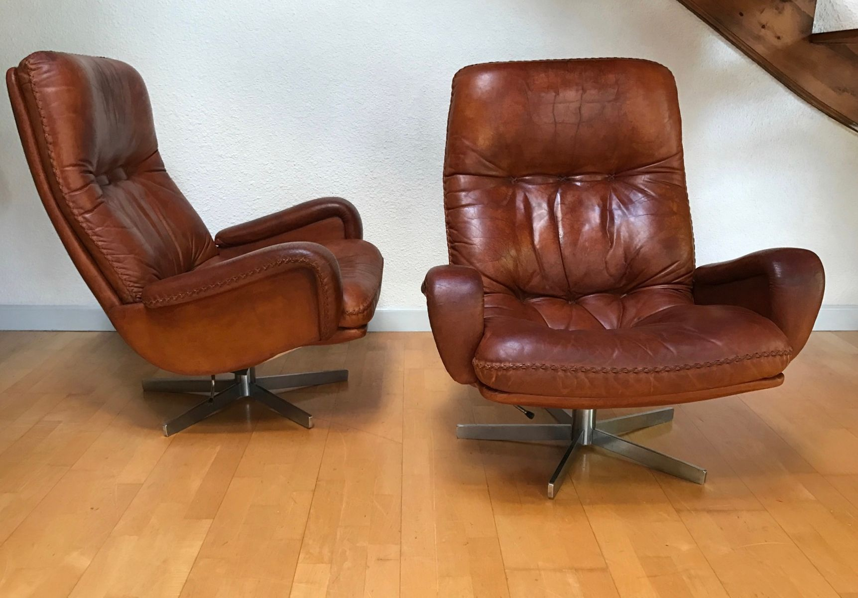 s 231 2 sessel fu hocker von de sede 1960er bei pamono. Black Bedroom Furniture Sets. Home Design Ideas