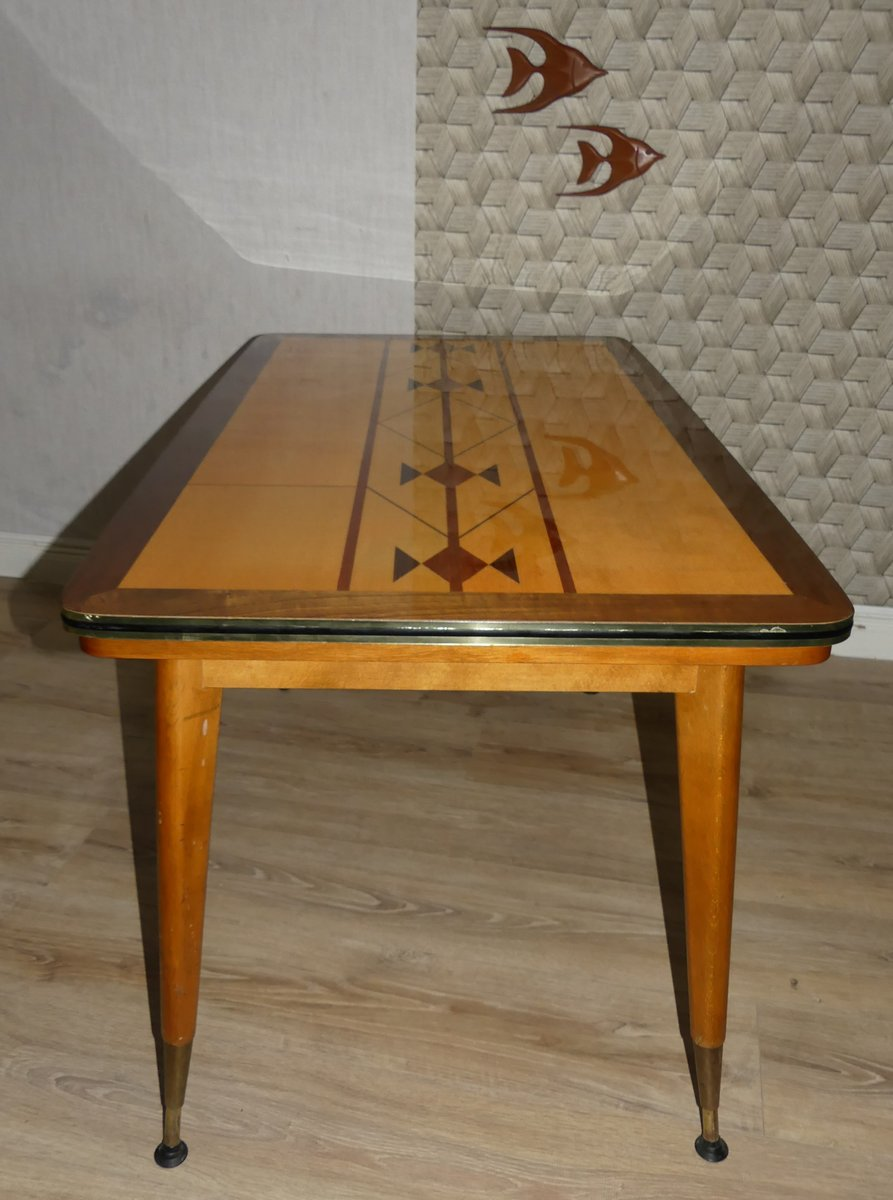 extendable height adjustable coffee table 1960s for. Black Bedroom Furniture Sets. Home Design Ideas