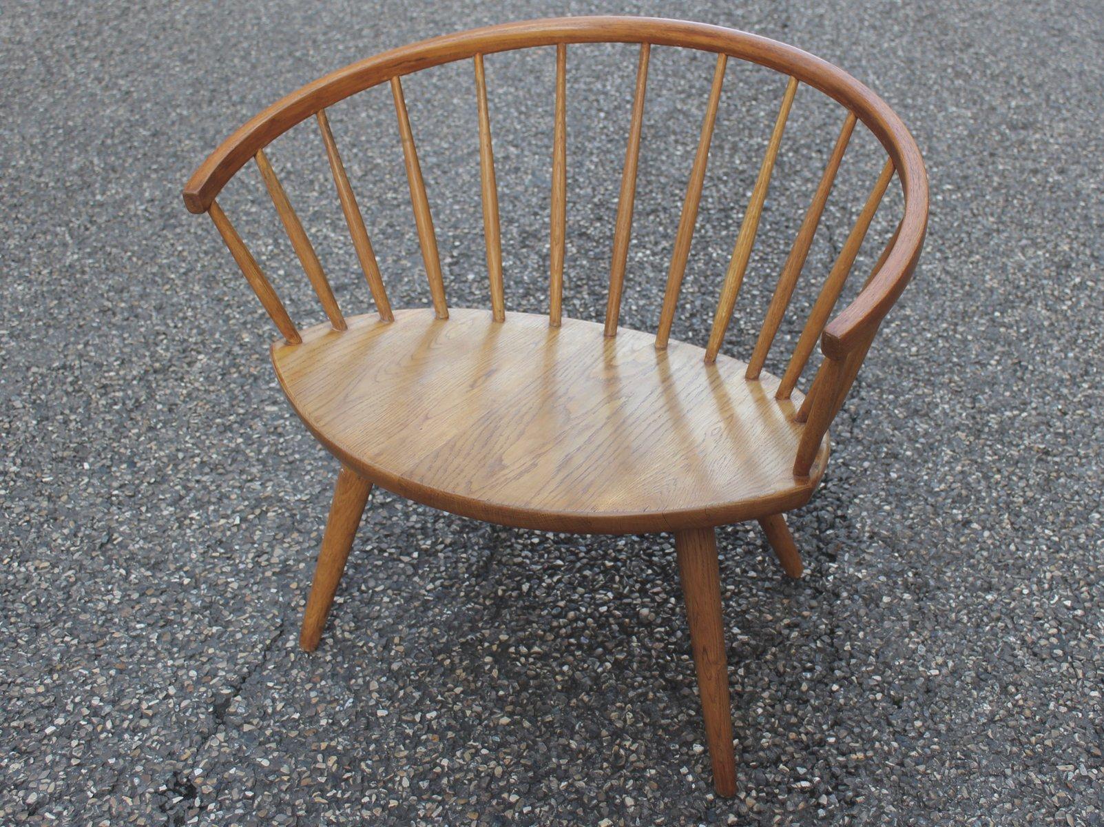 Arka Chair aus Eiche von Yngve Ekström für Stolab, 1955