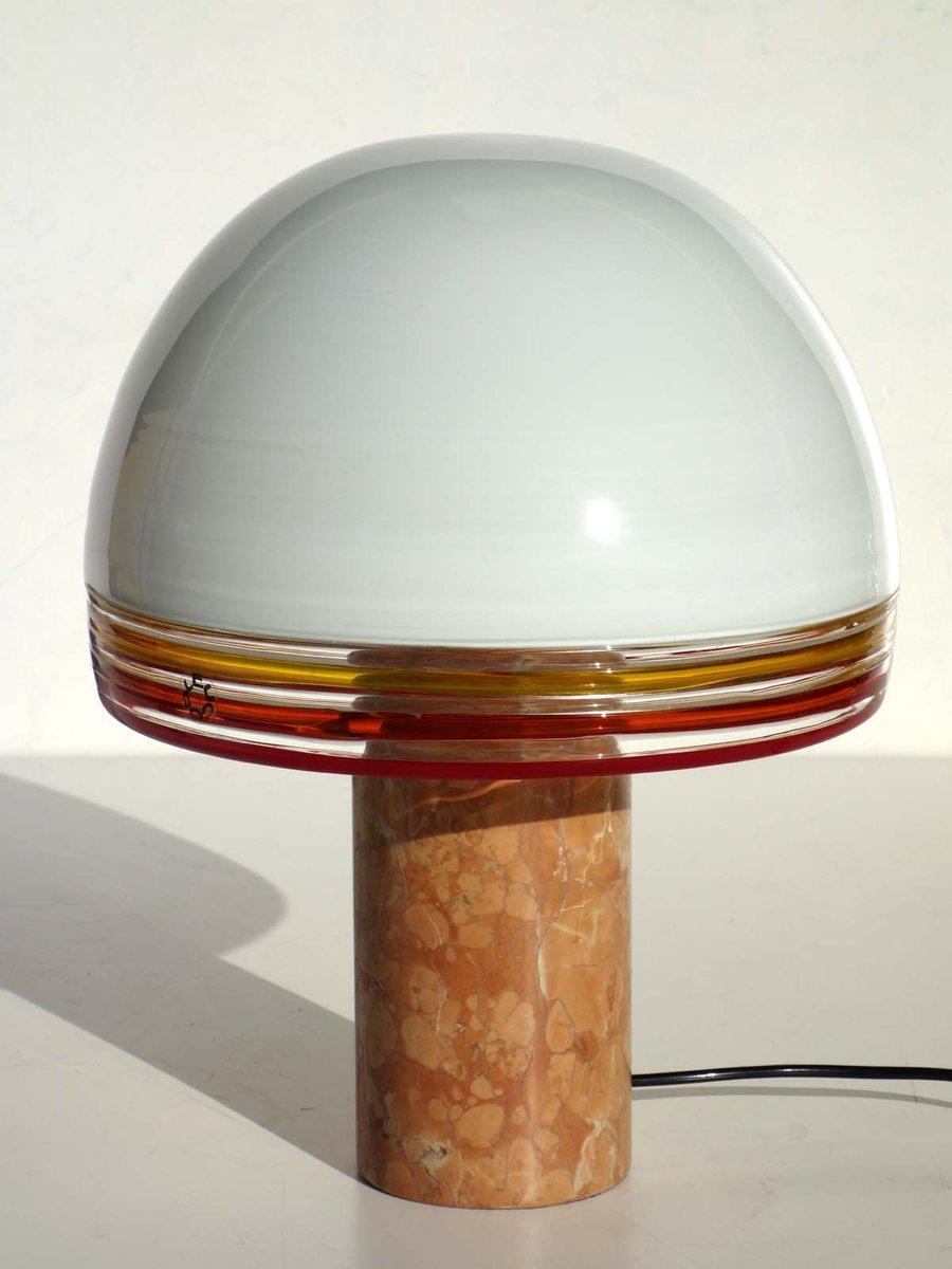 Vintage Febo Tischlampe aus Glas & Marmor von Roberto Pamio & Toso für...