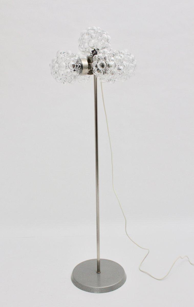 Deutsche Stehlampe aus Sideglas von Helena Tynell, 1970er