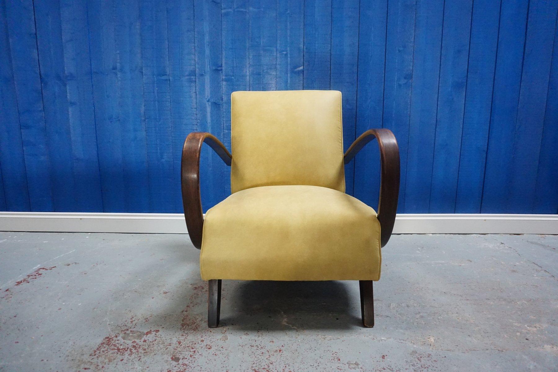 Sessel aus Bugholz von Jind?ich Halabala für Thonet, 1930er