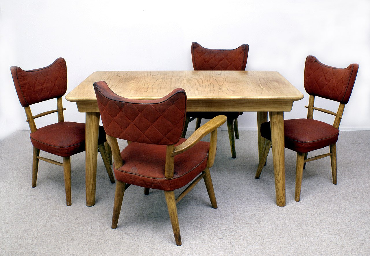 room to go furniture vintage dining room set by škvor karel for at pamono 16989