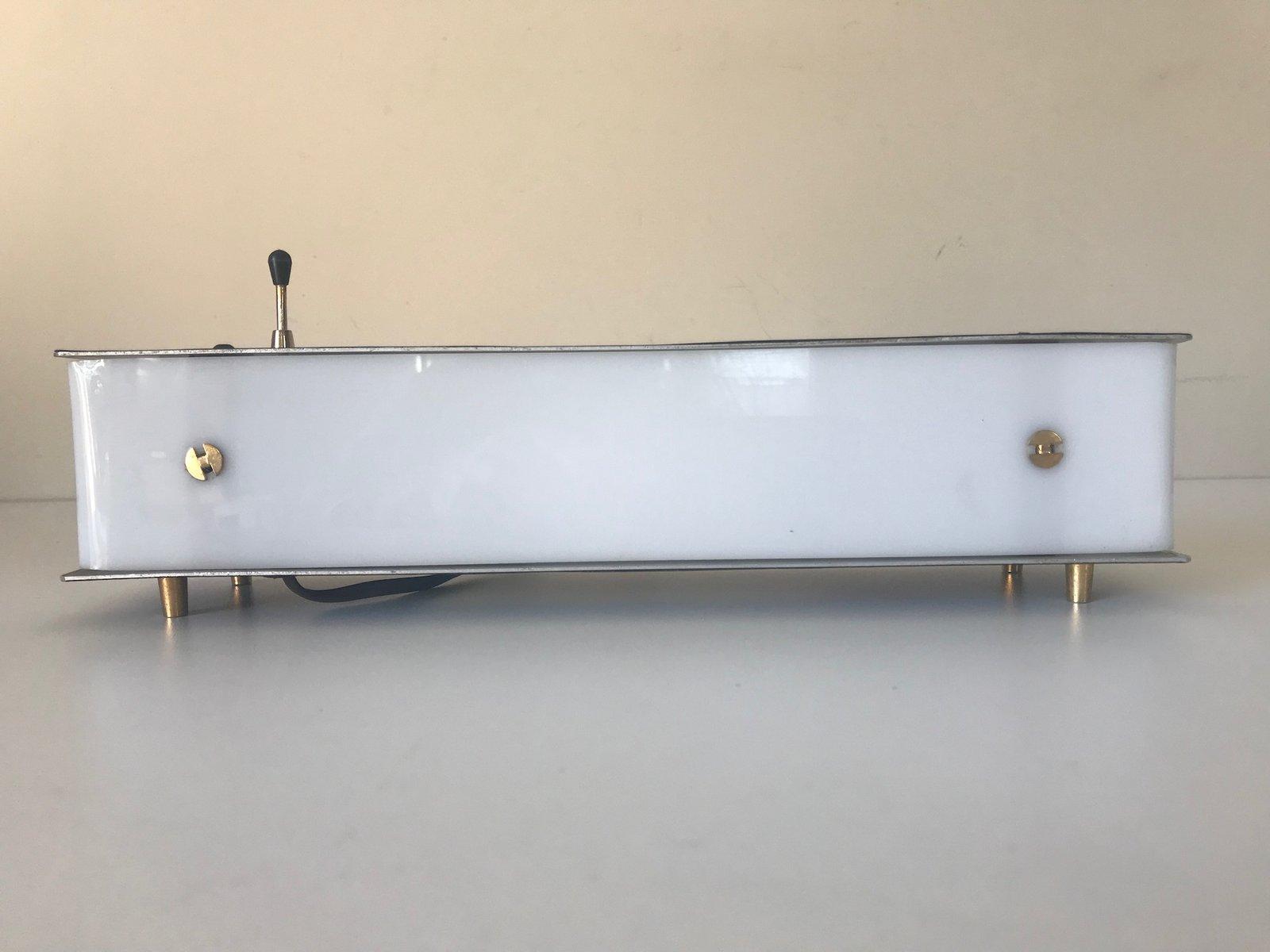 Lampe aus Plexiglas & Metall von Arlus, 1960er