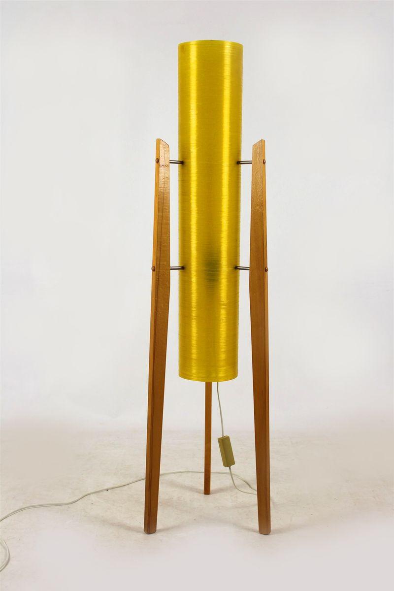 Vintage Stehlampe in Raketen-Optik von Novoplast Sered, 1960er