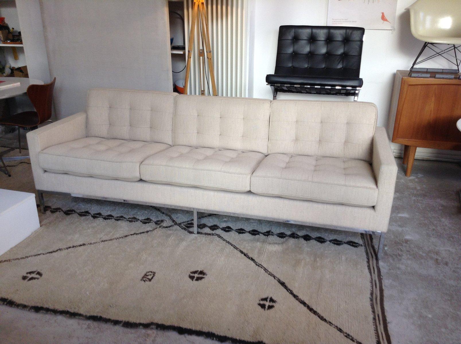 Vintage 3-Sitzer Sofa von Florence Knoll für Knoll Inc.