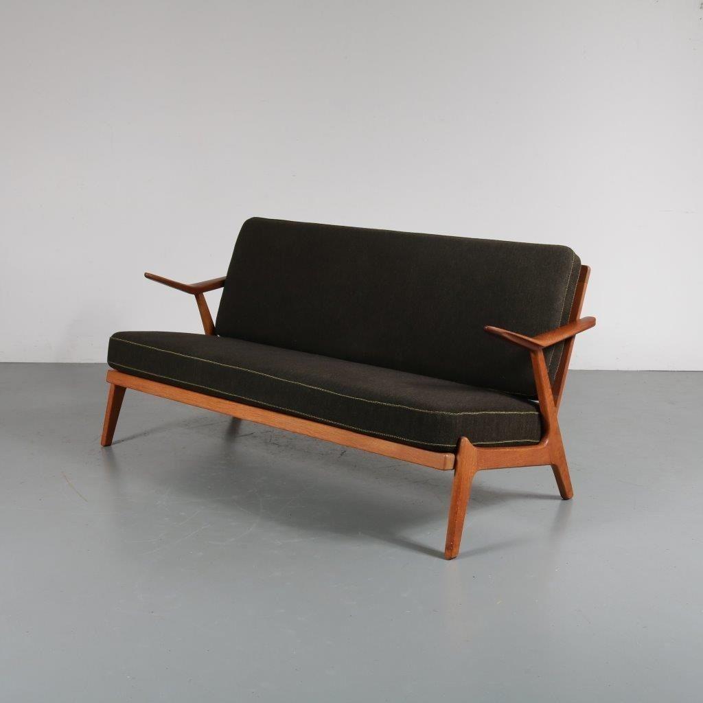 skandinavisches 2 sitzer sofa von arne wahl iversen 1950er schmiede uwe beer. Black Bedroom Furniture Sets. Home Design Ideas