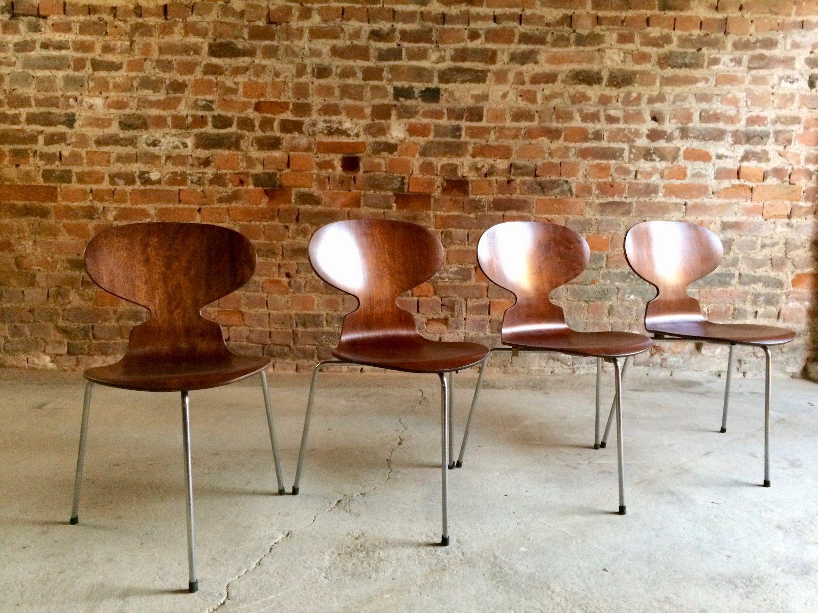 tisch 4 ant st hle von arne jacobsen f r fritz hansen 1950er bei pamono kaufen. Black Bedroom Furniture Sets. Home Design Ideas