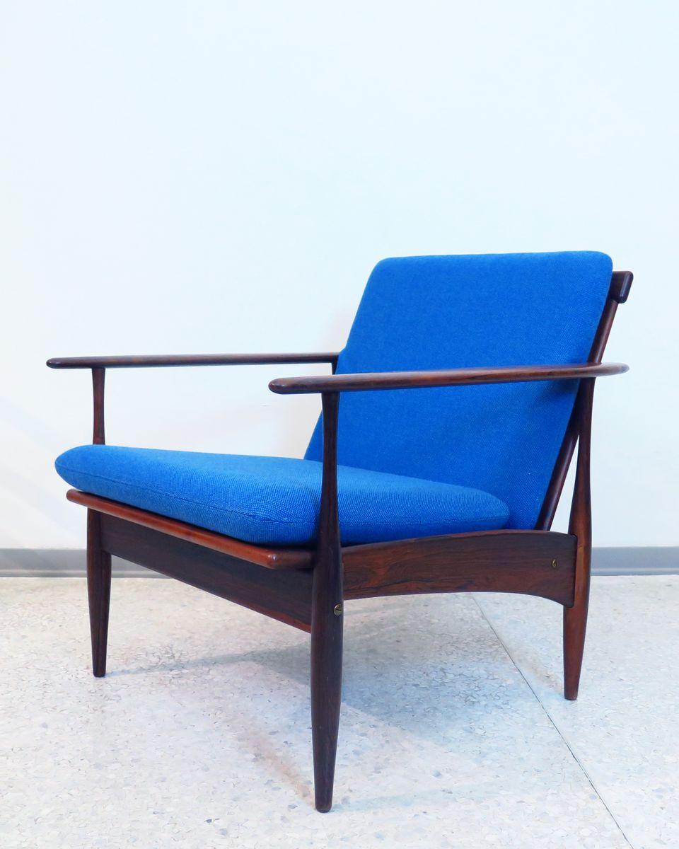 Skandinavischer Vintage Sessel mit Gestell aus Palisander, 1960er