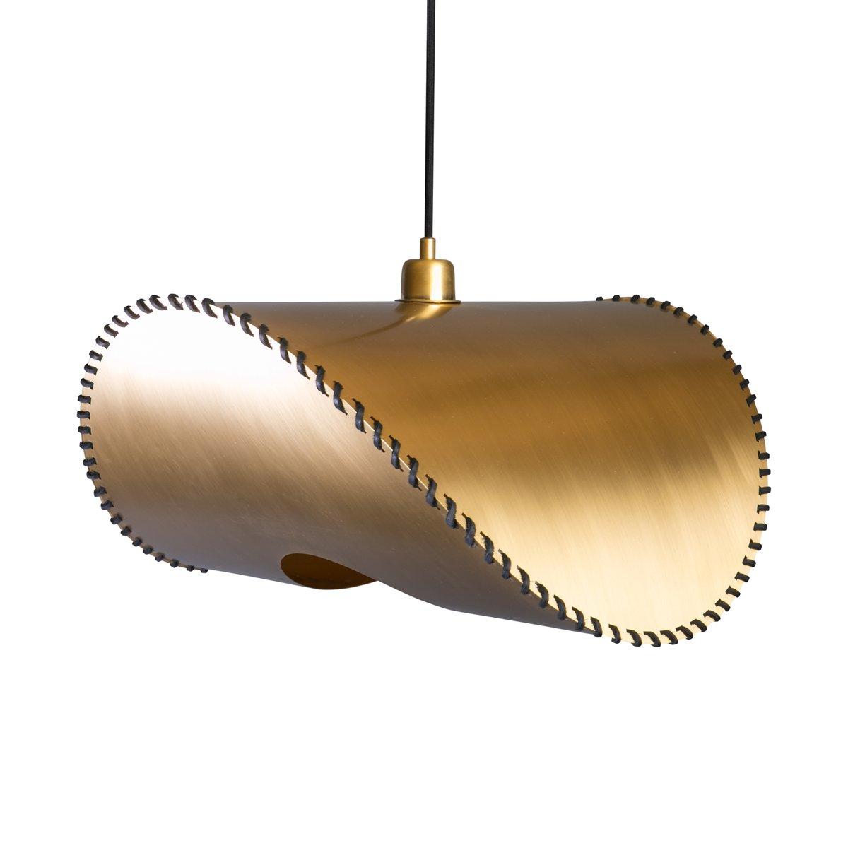 Große goldene Zero Two Hängelampe von Jacob de Baan für Uniqka