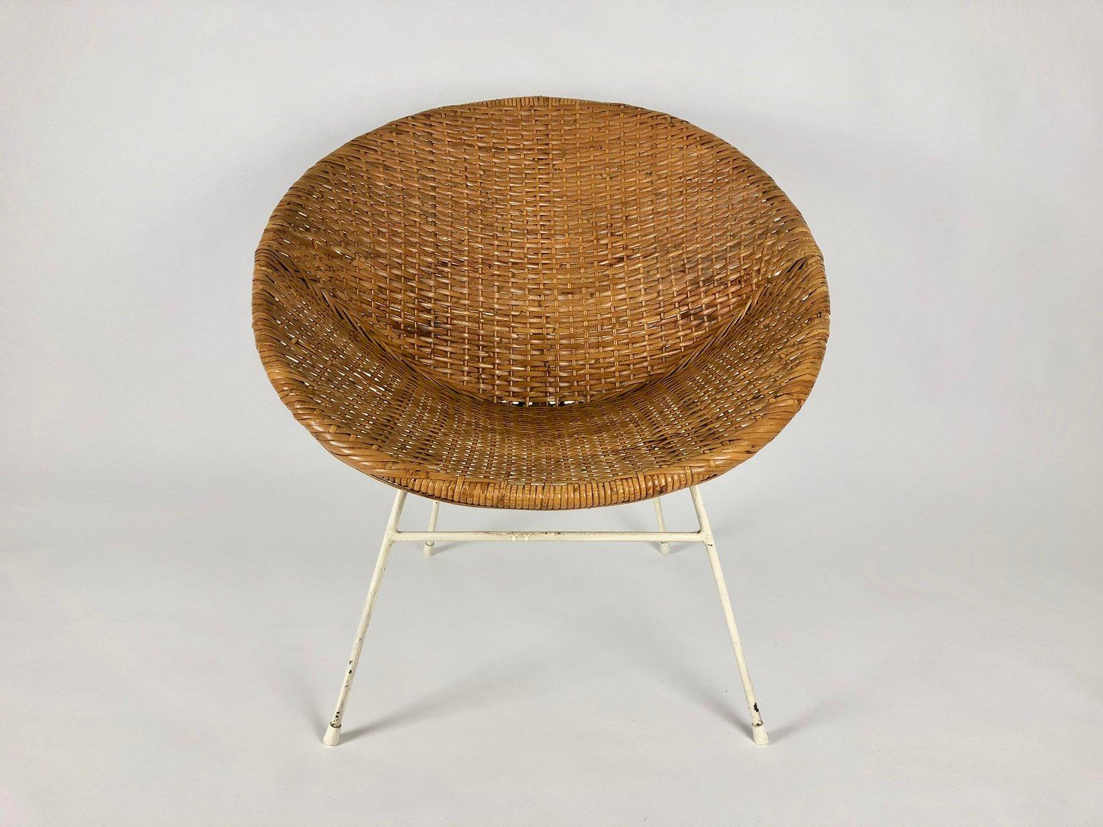 Vintage Sessel aus Rattan, 1960er