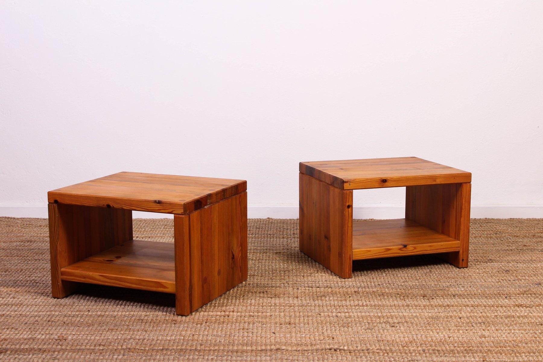 mid century beistelltisch aus pinienholz von sven larsson f r m bel shop bei pamono kaufen. Black Bedroom Furniture Sets. Home Design Ideas
