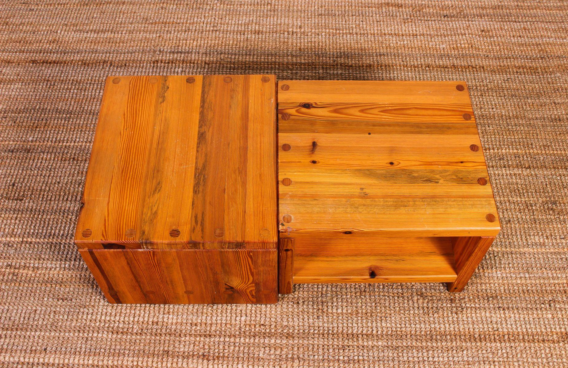 mid century beistelltisch aus pinienholz von sven larsson. Black Bedroom Furniture Sets. Home Design Ideas