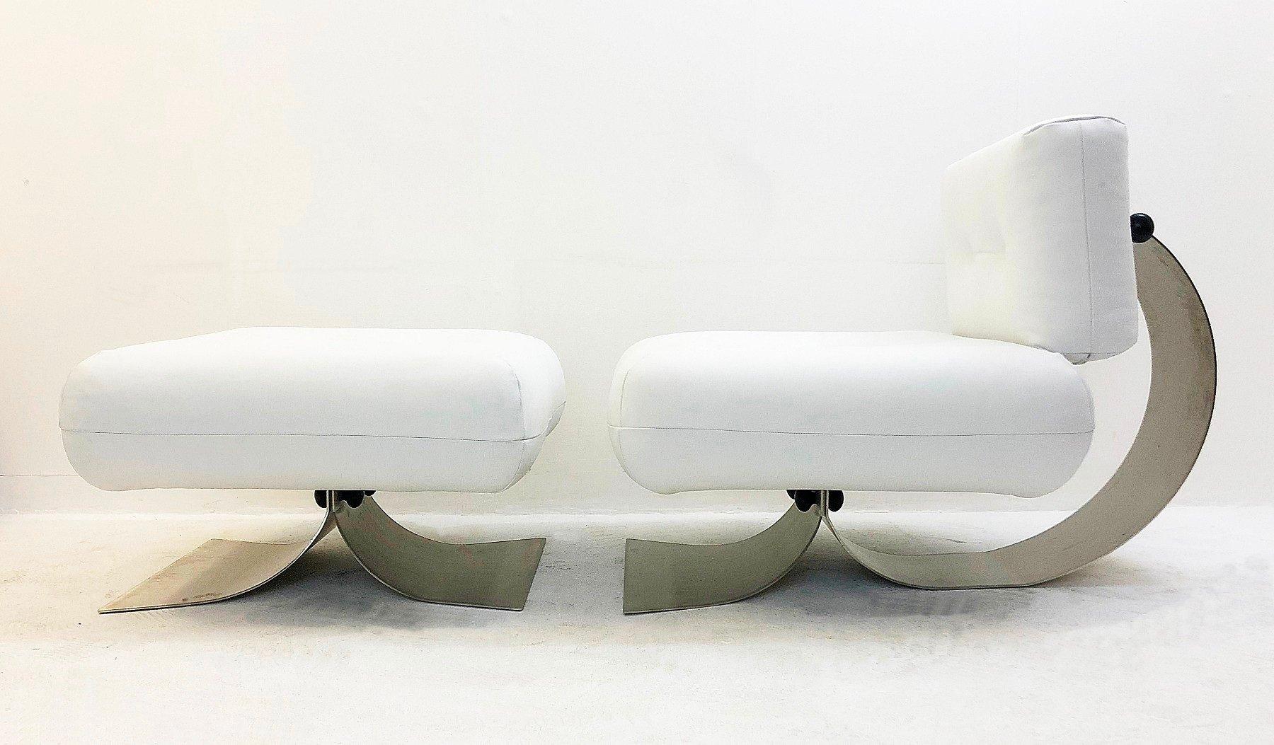 Alta Stuhl & Fußhocker von Oscar Niemeyer, 1970er