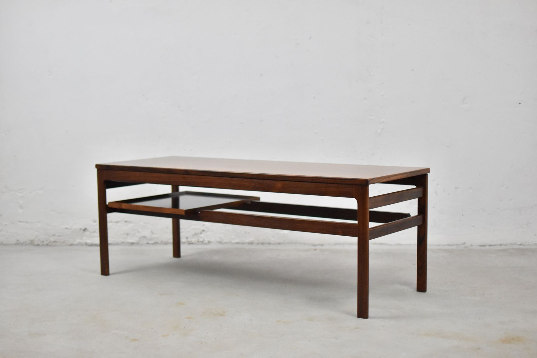 Rosewood Coffee Table With Serving Tray By Hans Olsen For Buck Kjaer 1958