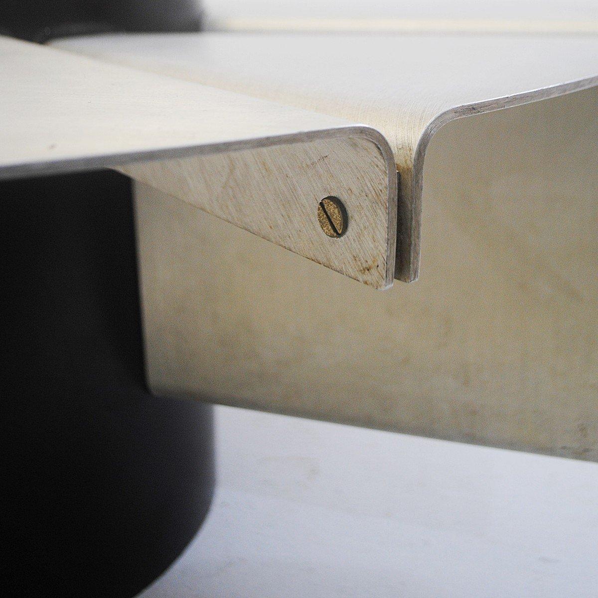 italienischer couchtisch aus glas chrom 1970er bei. Black Bedroom Furniture Sets. Home Design Ideas