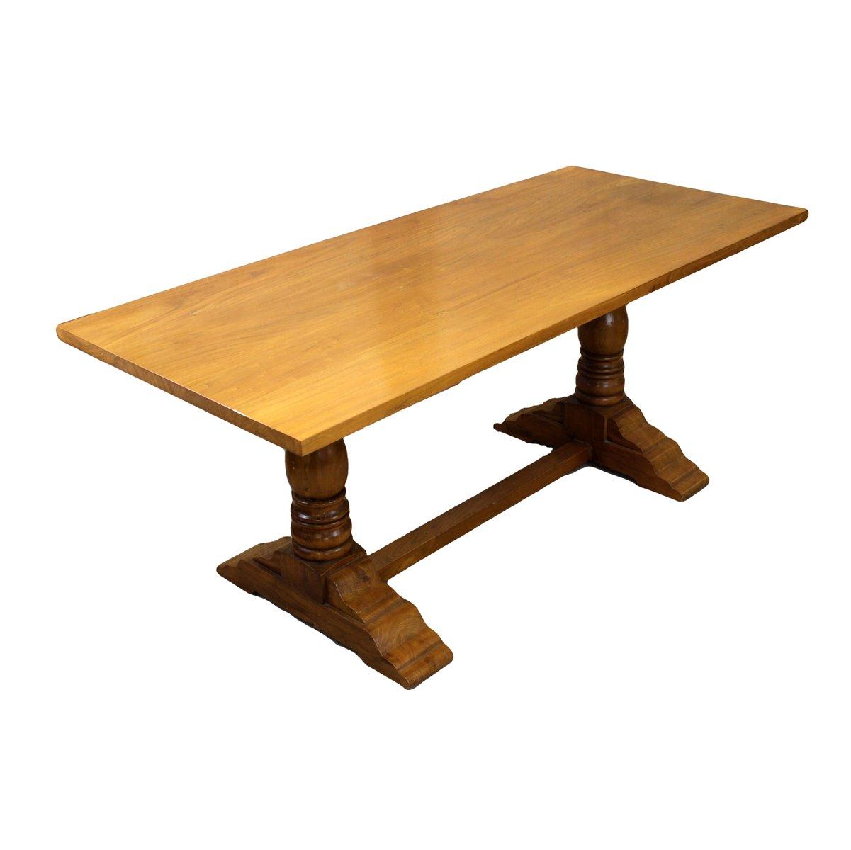 Tavolo da pranzo vintage in stile refettorio in legno massiccio in ...