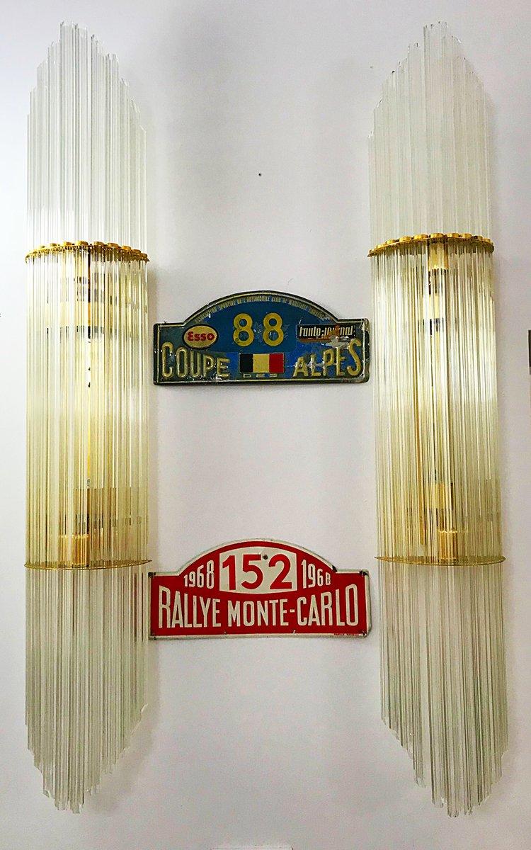 Wandlampen aus Muranoglas von Camer, 1970er, 6er Set