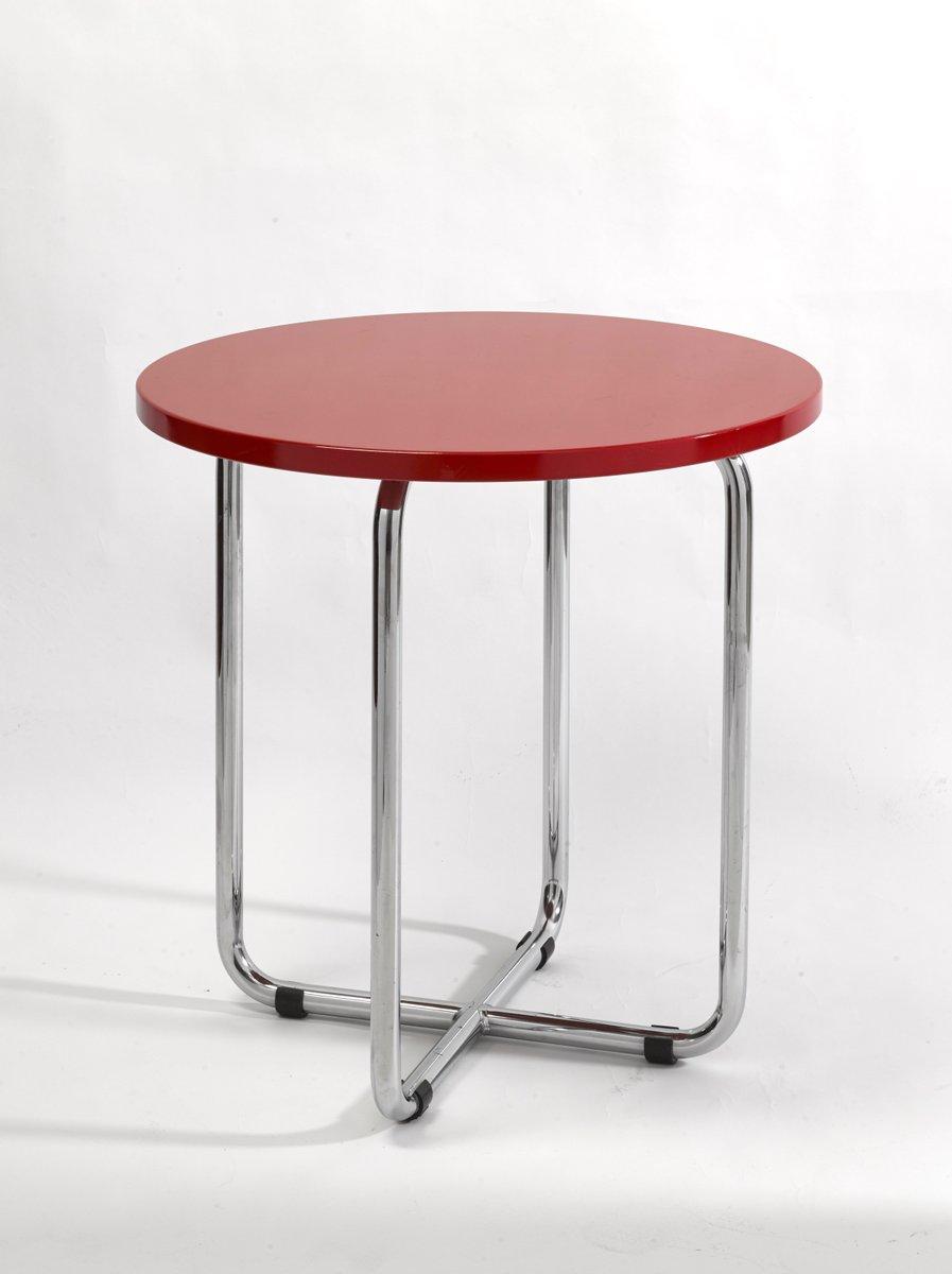 Roter AXA Beistelltisch von Rudolf Netik für SLEZAK Factories
