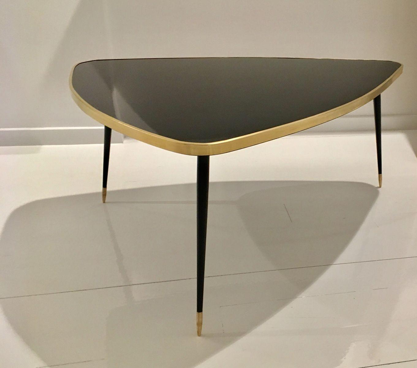 Kleiner hoher Twist Tisch in Schwarz von Antike Boutique