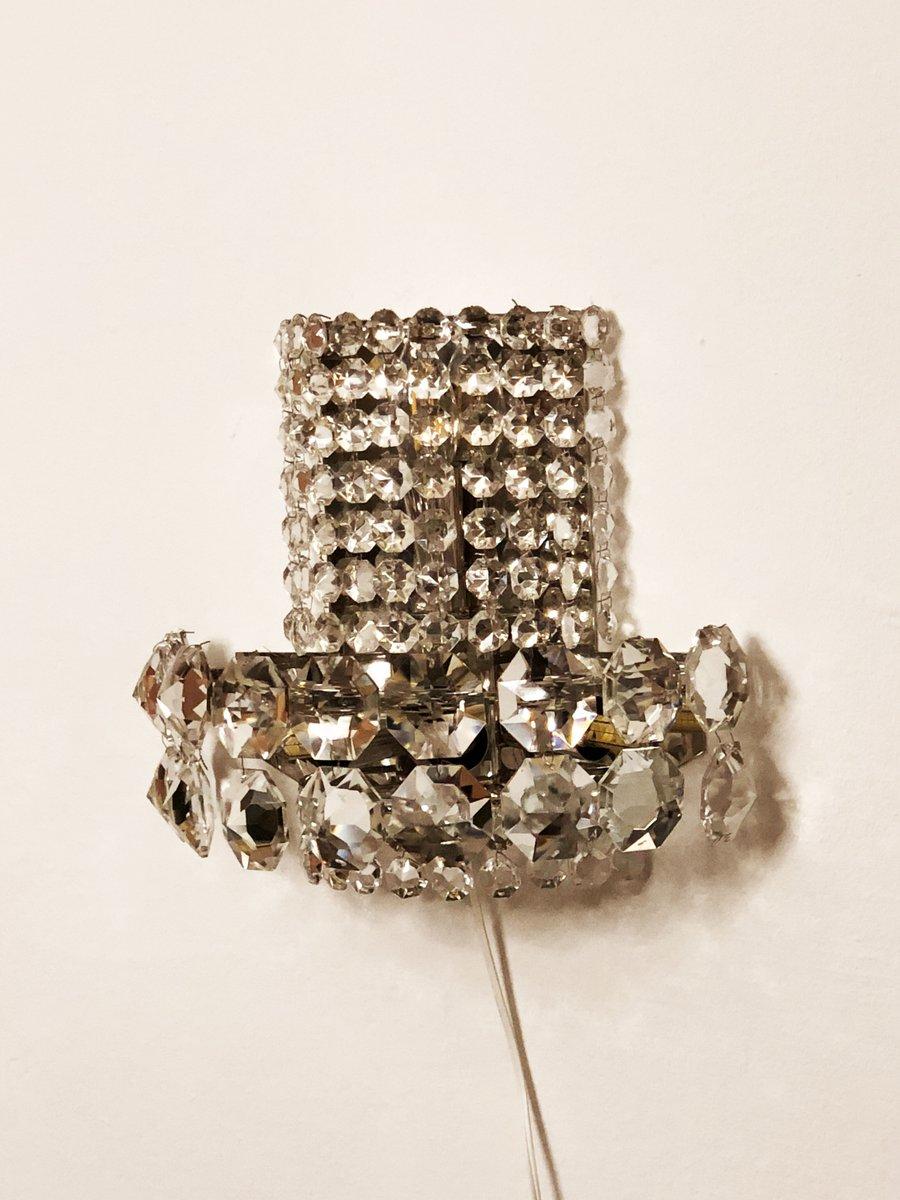 Große Kristallglaswandlampen von Bakalowits & Söhne, 1960er, 2er Set