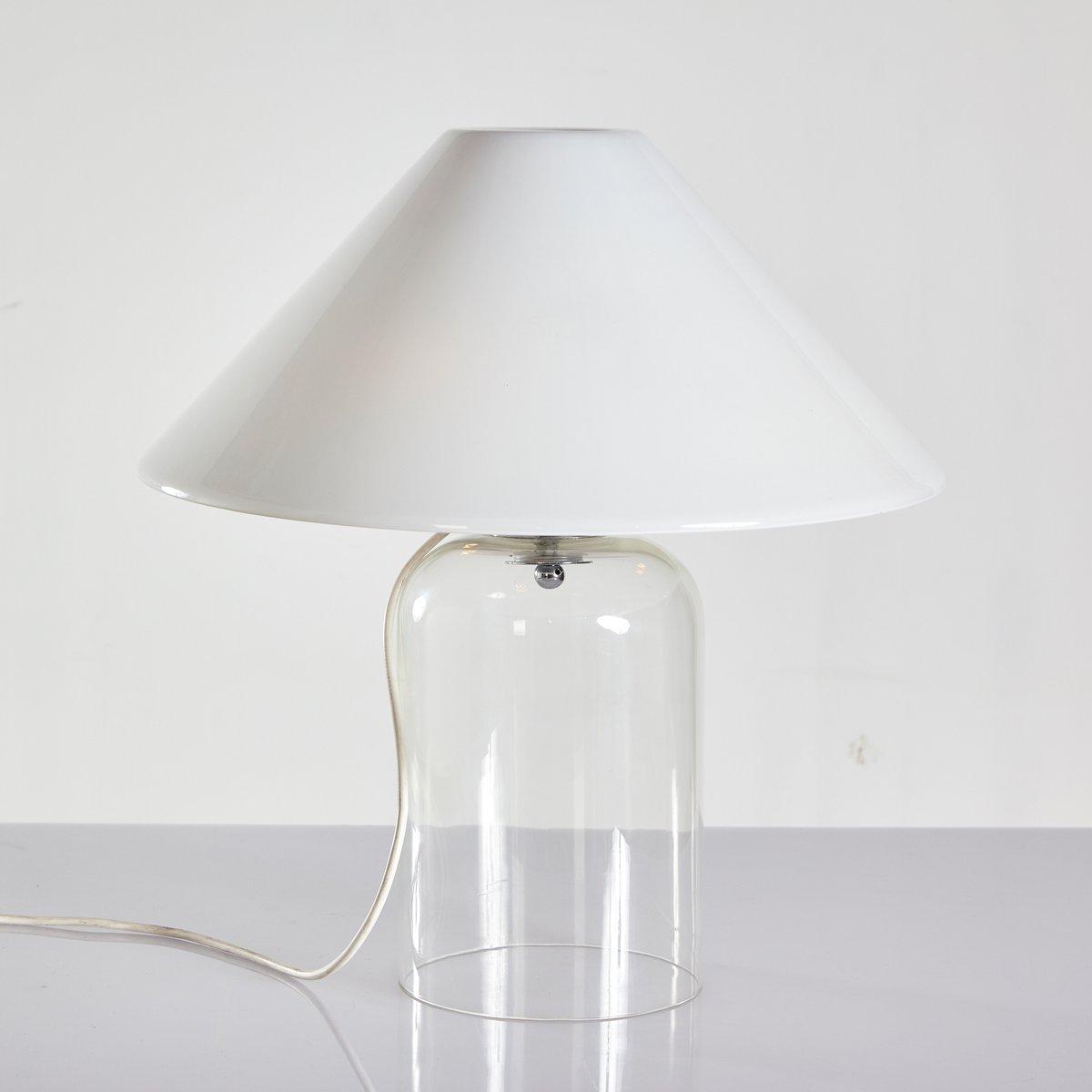 Alega Tischlampe aus Glas von Vico Magistretti für Vistosi, 1970er