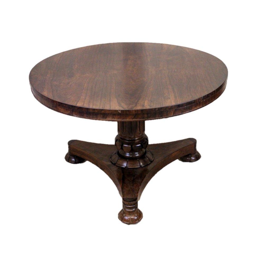 Antiker Frühstückstisch aus Palisander mit geneigter Tischplatte