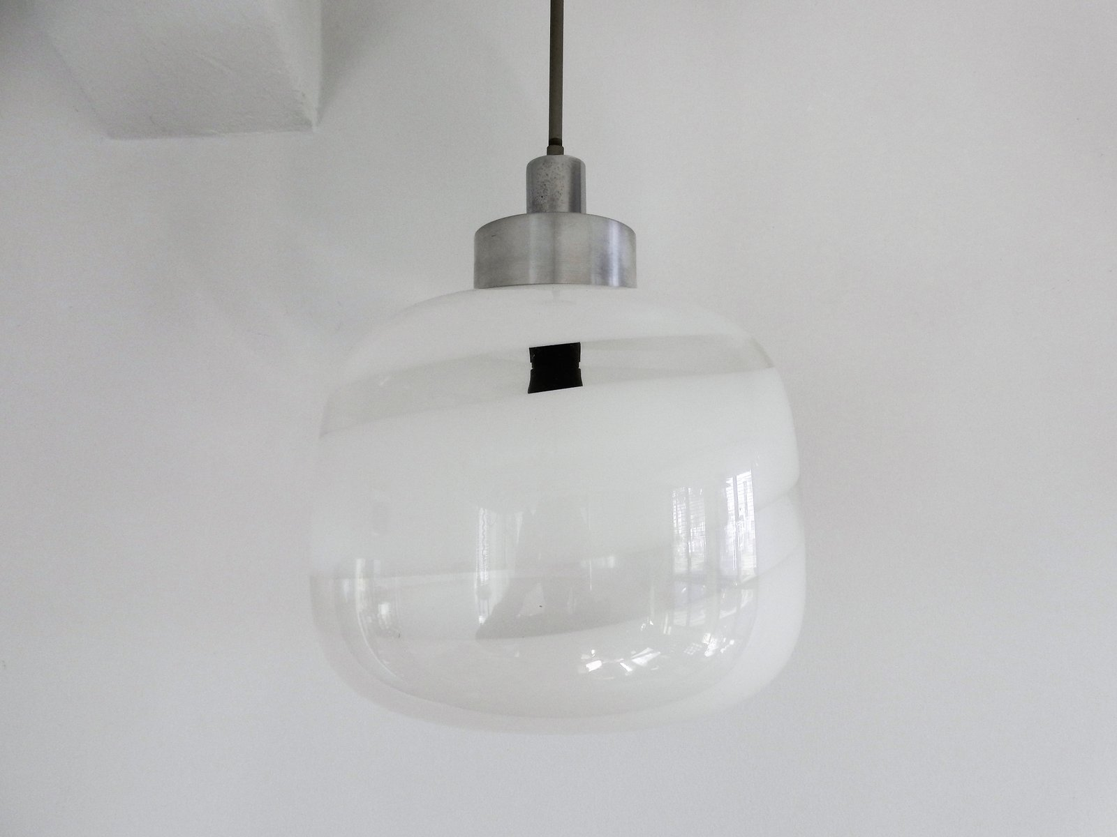Vintage Murano Swirl Glass Pendant Lamp