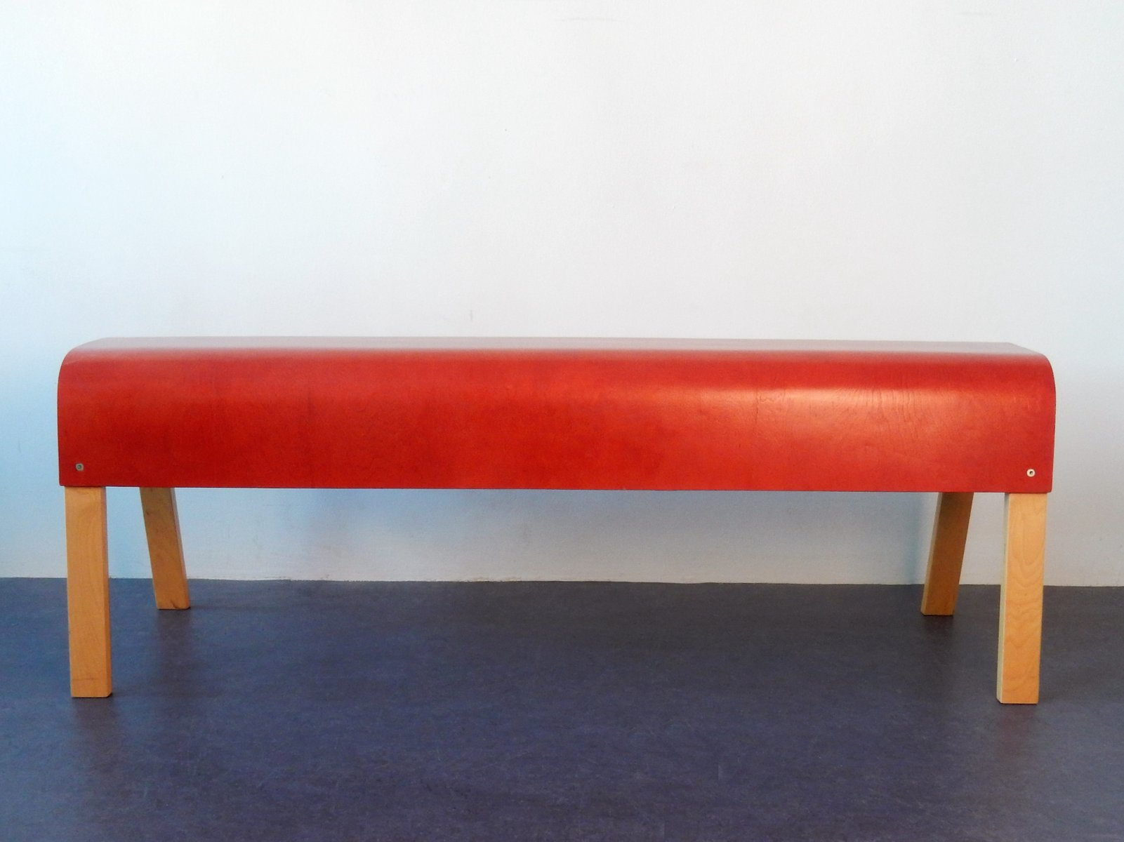 rote sitzbank aus schichtholz von ikea 1990er bei pamono kaufen. Black Bedroom Furniture Sets. Home Design Ideas