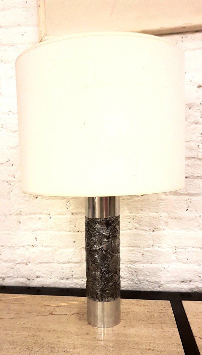 Tischlampe aus Aluminiumguss von Willy Luyckx, 1970er