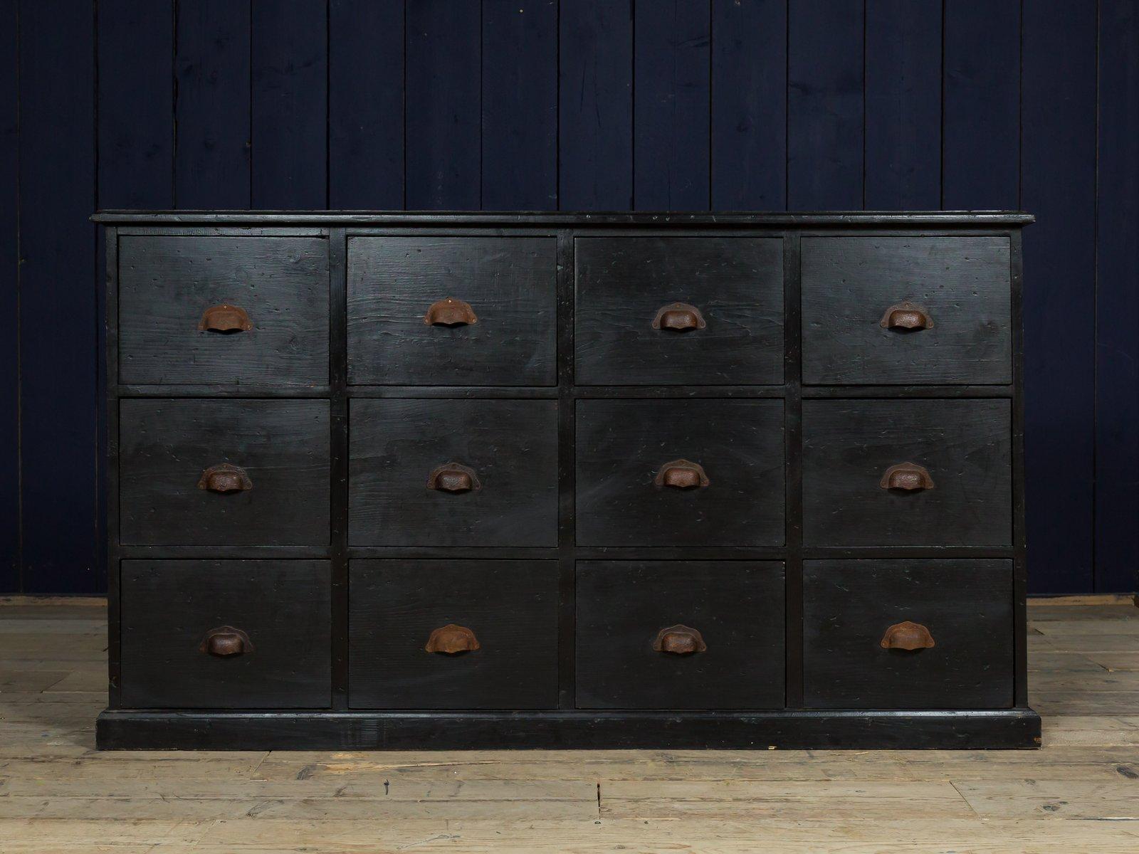 Schwarze Vintage Kommode Bei Pamono Kaufen