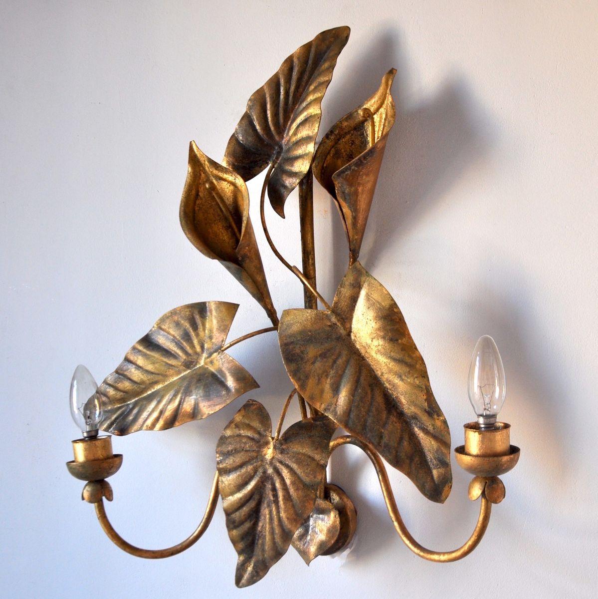 Mid-Century Fleur de Lys Wandlampe