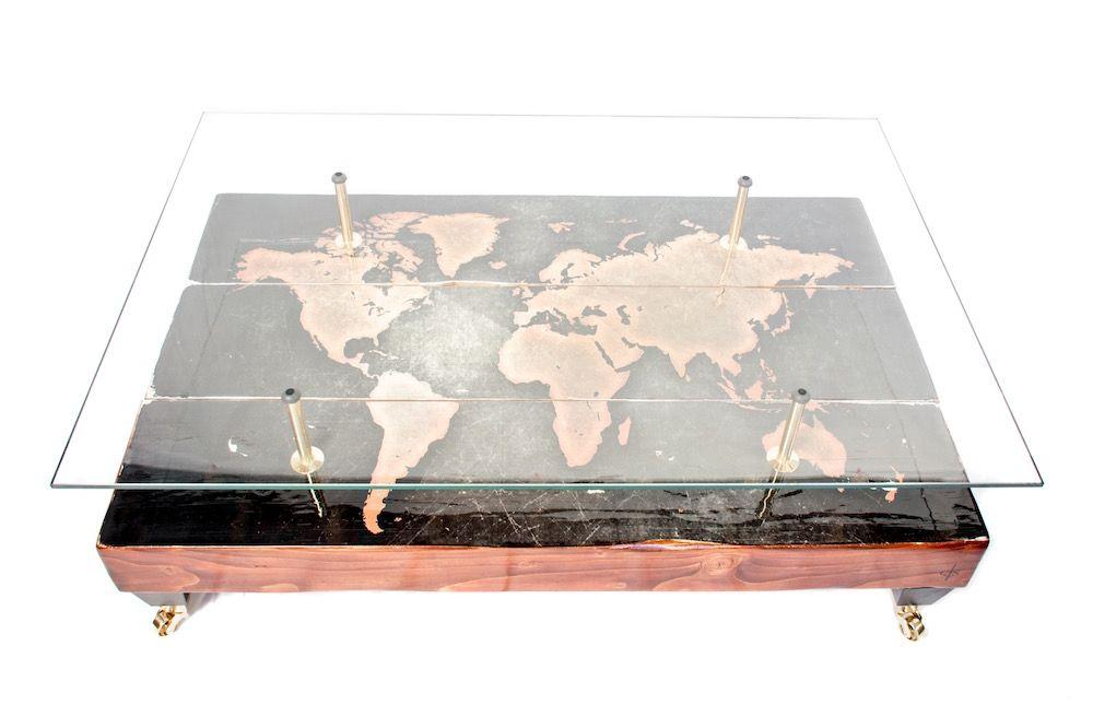 Couchtisch mit antiker Weltkarte von Cappa E Spada, 2015
